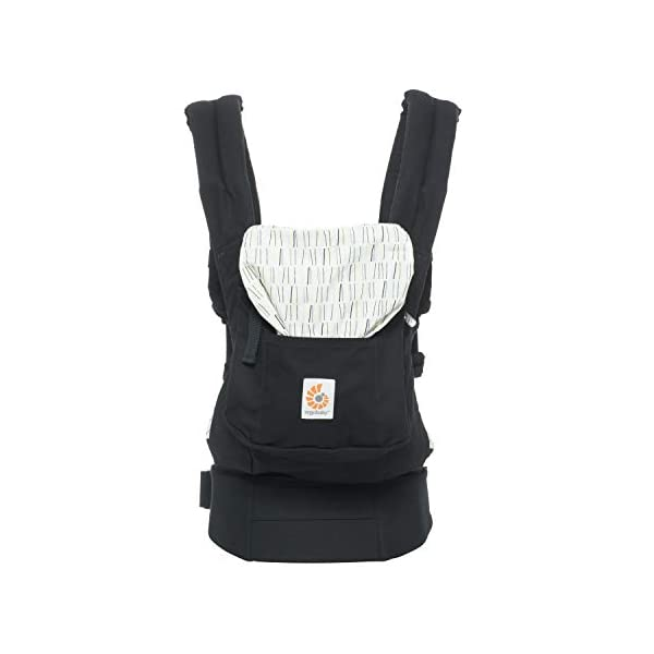 "Ergobaby Baby Carrier Original Downtown, 3-Position Child Carrier Front Back Backpack Ergobaby Ergonomic Baby Carrier - Ergonomic for baby with wide deep seat for a spread-squat, natural ""M"" seated position. Baby carrying system with 3 carry positions:  front-inward, hip and back. From newborn to toddler: 5.5*-20 kg / 12*-45 lbs (* from 3.2-5.5 kg / 7-12 lbs with Infant Insert, sold separately). Maximum wearing comfort - Lumbar support waistbelt (adjustable from 66-140 cm / 26-52 in) that can be adjusted to the height of the carry position. Longer lasting wearing comfort thanks to optimum weight distribution across the wearer's shoulders and hips. 3"