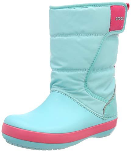 30b3e29536b7a Crocs LodgePoint Snow Boots, Botas de Nieve Unisex Niños, Azul (Ice Blue/