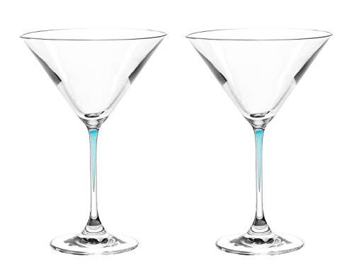 Leonardo La Perla Cocktailschale laguna, 2-er Set, 330 ml, spülmaschinenfest, Teqton-Kristallglas, 018972 Purple Martini-gläser
