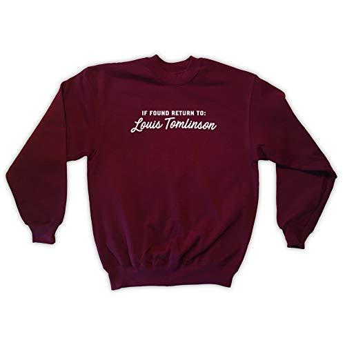 4d6713c64f54 If Found Return To Louis Tomlinson Felpa da Uomo Unisex - Bordeaux - X
