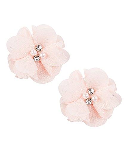 SIX Haarschmuck, 2er Set Haarspangen mit rosa Blüten in Seidenoptik (24-603)