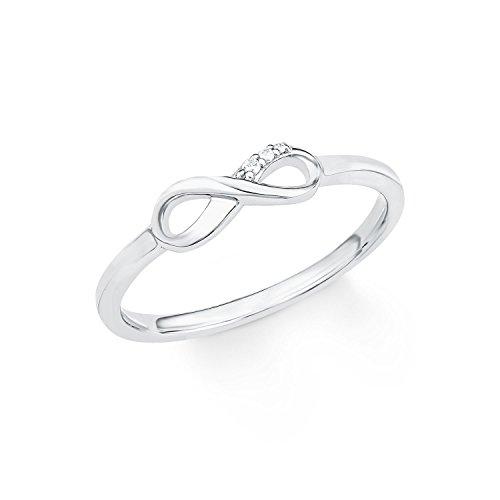s.Oliver Damen-Ring So Pure Infinity Unendlichkeitszeichen 925 Sterling Silber rhodiniert Zirkonia weiß