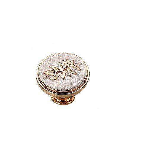 Lvcky 6pcs Rose Gold Möbelknopf zieht Kleiderschrank Schuh Schublade Knob Griff Möbel 2006-white (Rose Möbelknöpfe)