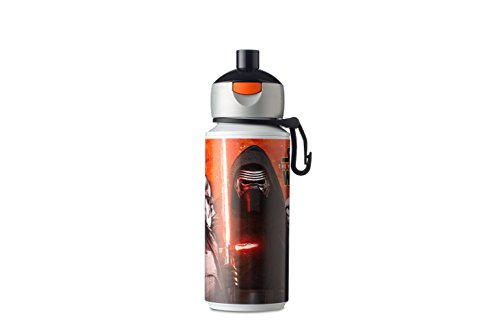Mepal Trinkflasche Campus Pop-Up 275 ml-Star Wars, Plastik, Orange/Schwarz, 7.5 x 6 x 16.89 cm