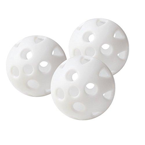 LEORX 24Débit d'air creux Balles de golf de récupération pour Practice de Golf (Blanc)