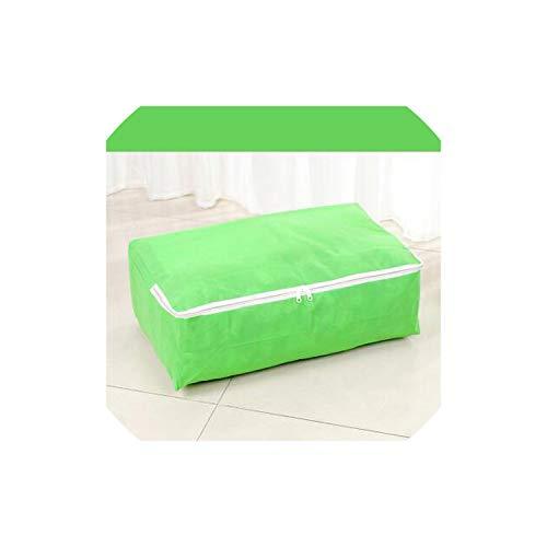 JobFine Storage Box 52 * 35 * 18cm 1Pc verdicken Quilt Non Woven Stoff Quilt bewegen Beutel-Kleidung-Aufbewahrungsbehälter-Extra Large Aufbewahrungstasche für Wohnen, Grün - Extra, Extra Large-grün