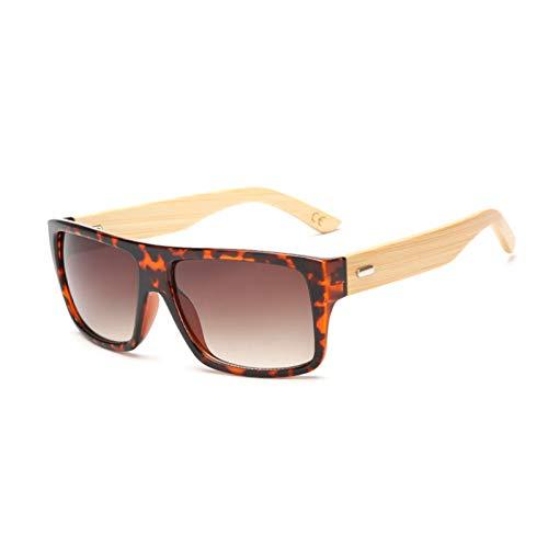 CCGSDJ Holz Bambus Sonnenbrille Männer Frauen Gespiegelt Uv400 Sonnenbrille Echte Holz Shades Gold Blau Outdoor Brille Sunglases Männlich