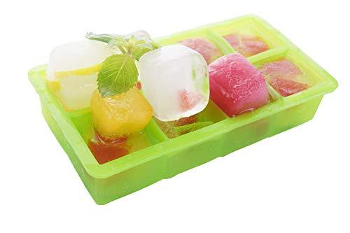 wolecok 2Pack Silikon Ice Cube Formen Candy Form Kuchen Schimmel Schokolade Form, 8pro Eiswürfel Tray grün (Candy Schimmel Pop)