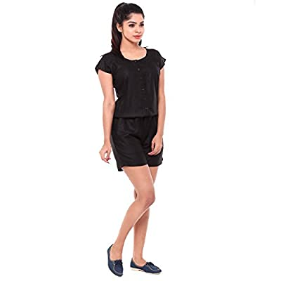EASY 2 WEAR ® Women's Jumpsuit Black (Shorts Style) SIZES S TO 4XL