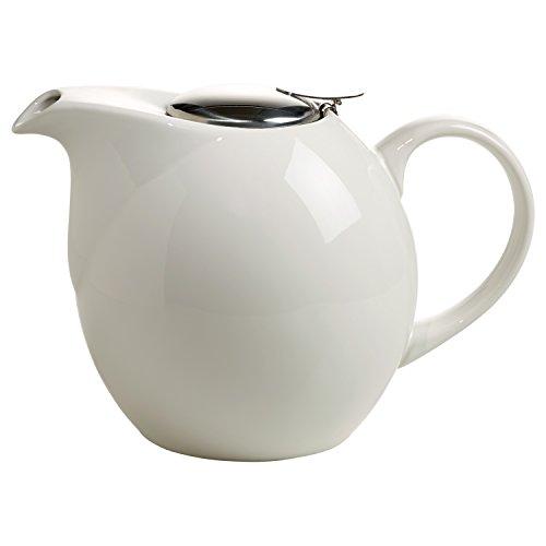 Maxwell & Williams InfusionsT Teekanne, Keramik, weiß, 24.5 x 15 x 16 cm (Geschirr Vanille-weiße Rote)