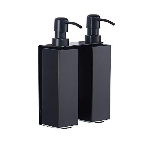 PQZATX Küche Und Bad Seifen Spender Matt Schwarz Edelstahl Manuelle Lotion Shampoo Dispenser Box Zubeh?r