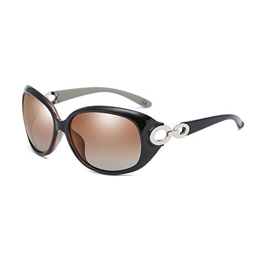 BVAGSS Mode Klassisch Groß Damen Sonnenbrille Polarisiert 100% UV-Schutz Brillen