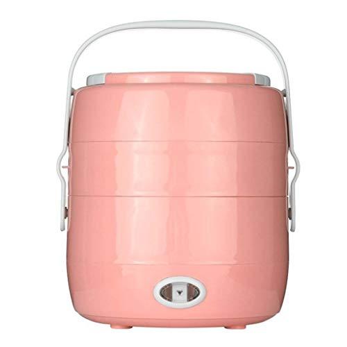 2L Mini Cuiseur À Riz Boîte À Repas Électrique Isolant Thermique Boîte À Lunch Portable Chauffage Électrique Cuiseur À Riz avec Cuiseur À Oeufs (Couleur : Pink)
