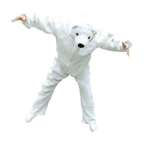 F24/00 Gr. L Eisbär Kostüm für Fasching und Karneval, Kostüme für Frauen Männer Erwachsene Paare, Faschingskostüm, Karnevalkostüm (Süße Tier Kostüme Für Paare)