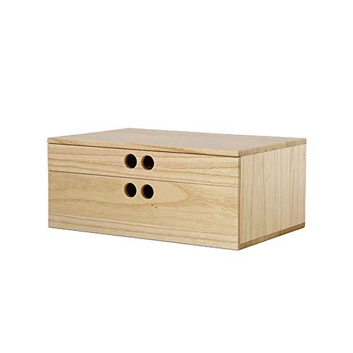LI MING SHOP Volkskunst Aus Holz Schmuck Aufbewahrungsbox Display Pad Erhöhten Schreibtisch Oberfläche Kombination Box Box Schublade (Color : Varnish color, Size : 23.2x18x15cm) -