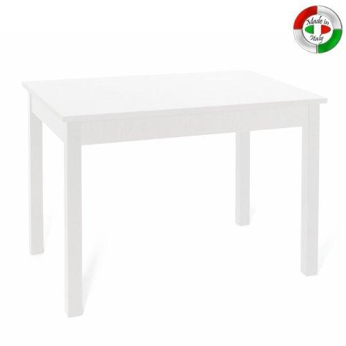 Tavolo 90 X 90 Allungabile Bianco.Tavolo Pranzo Allungabile Bianco Frassinato In Legno Nobilitato Cm