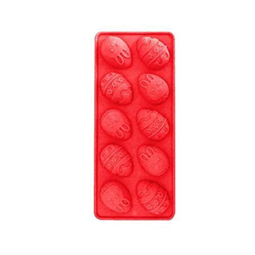 Lazbboy Ostern Osterhase Silikon Eier Schokoladenkuchen Seifenform Backen Eiswürfelform(Orange)