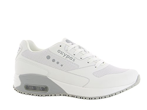 Oxypas Ela Damen Professionelle Arbeitsschuhe ESD SRC White with Grey