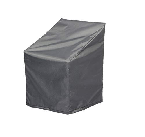 Hentex Cover Abdeckung für Gartenstuhl mit hoher Rückenlehne,Abdeckung für Gartenstühle mit Zugkordel & Befestigungsclips, (67L*67W*80/110H cm) für bis zu 4 Stühle