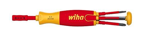 Wiha Magazin-Bithalter LiftUp electric mit 6 slimBits (2831-09021) / Schraubendreher für elektrische Anwendung / Bits im Griff, VDE-geprüft, stückgeprüft, langlebig, universell, Bitsatz, Bithalter, platzsparend, kompakt, stabil