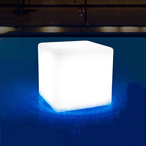 Sonnenlicht Draussen 7 Farbe Ändern Platz Stehleuchte Kunststoff Wasserdicht zum Garten Terrasse Dekoration mit Licht Sensor (größe : L40 cm)