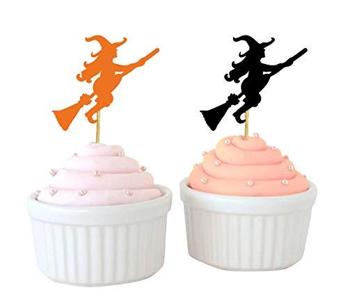 Darling Souvenir, Halloween-Party-Hexe-Kuchen-Deckel, Geburtstag Dessert Dekoration - Packung mit 40