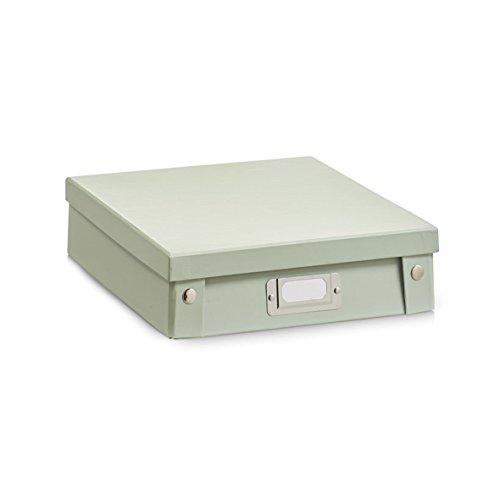 Zeller 17590 A4-Box, Pappe, jade Pappe, grün, 24,8 x 31,2 x 7,4 cm