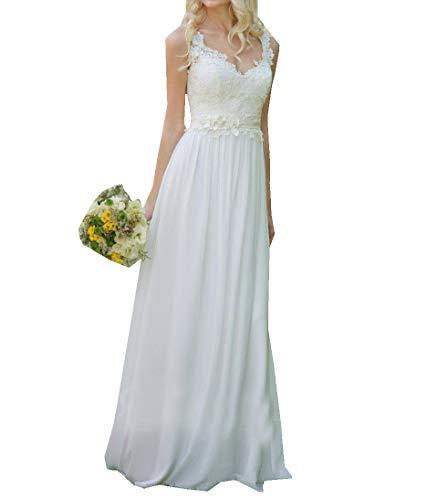 Special Bridal Chiffon Einfache Strand Brautkleid Elfenbein 2019 Liebsten Applique Brautkleider