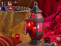 Carlo Milano Steh- & Hängelampe im Marokko-Stil, Glas & Metall, 44cm