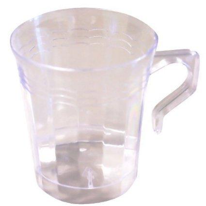 Resposables Tasses à café, 227 ML, Lot de 8 Transparent. réutilisable et jetable