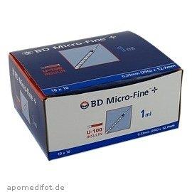 Bd Micro-fine+ U 100 Ins.spr. 12,7 Mm 100X1 ml