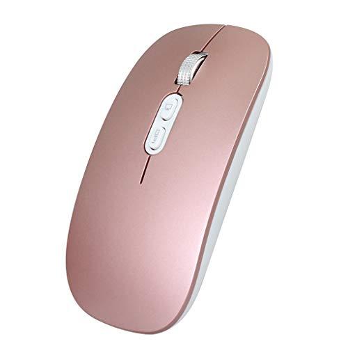 Vaycally Wiederaufladbare 2,4-G-Funkmaus aus Metall Geräuschlos Geräuschloses Klicken Optische Maus Leise Funkmaus Funkmäuse PC Laptop-Computer Schnurlose Maus Energiesparend für Heim und Büro