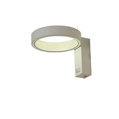 SUNA LED Chambre à Coucher Moderne Avec Lampe à LED En Aluminium à économie D'énergie Et Lampe De Mur à Interrupteur Blanc