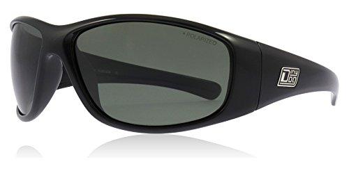 Dirty Dog Wolf Sunglasses One Size Shiny Black Green