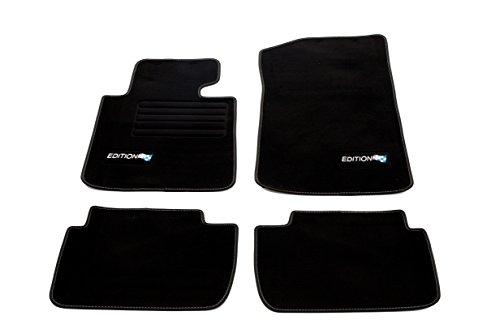 Fahrzeugmatten.de - Tappetini per auto in velluto, adatti per BMW E46 serie 3 limousine/coupé/touring, anni di produzione 1998-2005, colore: nero