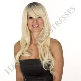 Hair By MissTresses longue blond effet racines of fashion costume perruque/Frange Souple/naturel cristal Wave