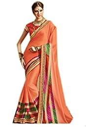 Mantra Fashions Women's Georgette Saree (Mant05_Multi)