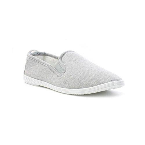 Zone - Womens Slip On Canvas Shoe in Grey - Size 6...