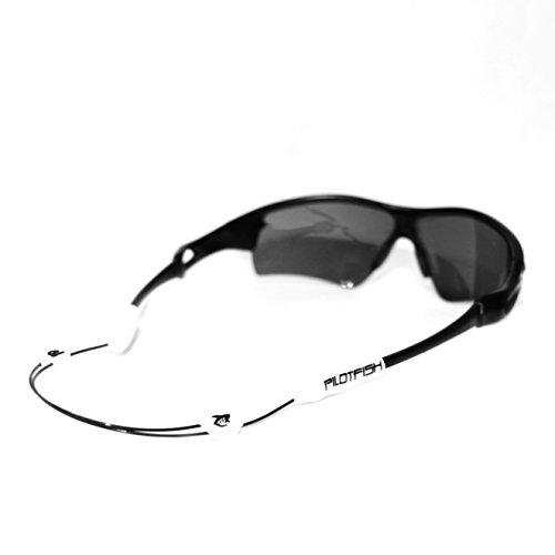 pilotfish kein Schwanz verstellbar Eyewear Retainer-Sonnenbrille Halter Gurt-Sonnenbrille Retainer, weiß / schwarz