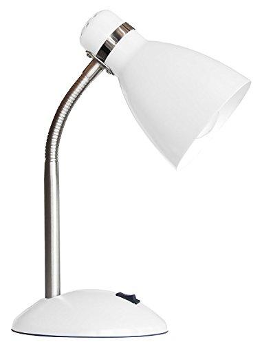 Schreibtischlampe Tischleuchte Leselampe STUDIO | Metall | Weiß | ohne Leuchtmittel