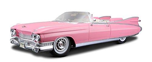 Maisto Cadillac Eldorado Biarritz Cabrio ´59, Modellauto mit Federung, Maßstab 1:18, Türen und Motorhaube beweglich, Fertigmodell, lenkbar, 24 cm, pink (536813)