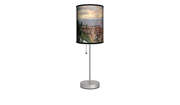LaMonopoint in-A-Box SPS-FAR-SQAGR Featured Artist-Songquan DengArizona Grand Canyon Panoramic View Silver Sport Lamp 7 x 7 x 20