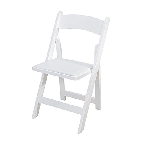 KSUNGB Klappbarer Stuhl aus Holz Ergonomie Essensstuhl Restauranthocker Lounge-Sessel Balkonstühle Studentenstuhl Bürostuhl Barhocker Zusammenklappbar Erwachsene Massivholz, Weiß -