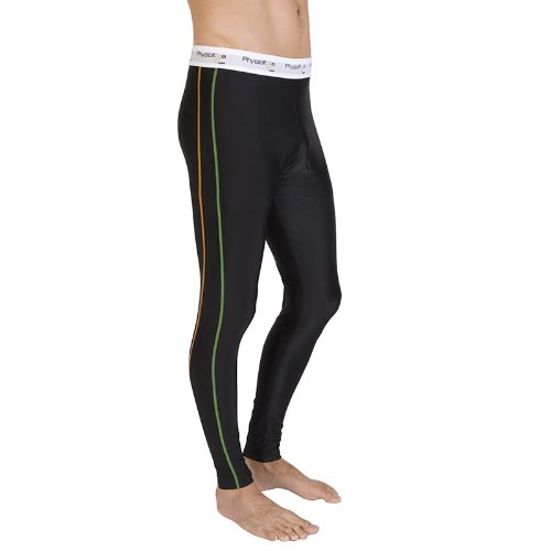 PhysioRoom Compression Long Pants - Running Tights - Baselayer Thermal Leggings, Improved Athletic Performance, Ideal For Use During Sports, Prevention of Hamstring Groin Thigh and Calf Muscle Injuries