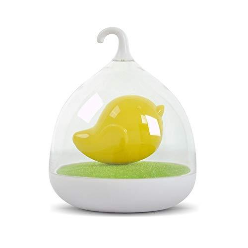 ZCHPDD Vogelkäfig Led Nachtlicht USB Ladestation Touch Vogel Tragbare Nachttischlampe Geeignet Für Kinder Baby Schlaf Beleuchtung Kinder Geschenk Gelb 14 * 14 * 17Cm