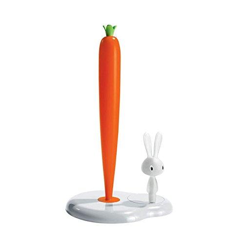 Serviette Rollenhalter Bunny und Karotte von italienischen Designer Marke Alessi. Designer Stefano Giovannoni. Made in Italy. Papier Handtücher Halter–Einzigartig Einzugs Geschenk. (Badezimmer-zubehör-kit-bronze)