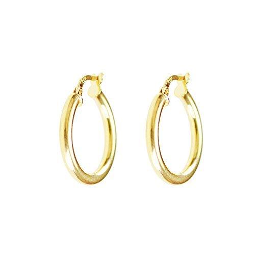 Pendientes de aro para mujer, oro amarillo, marca L'Atelier d'Azur