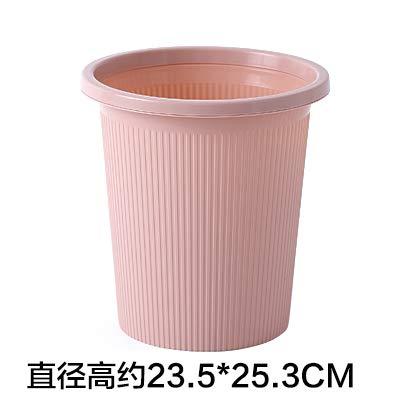 LZJBJ Mülleimer Einfache Mülleimer nach Hause Wohnzimmer ohne Deckel großen Kunststoff-Druckring Schlafzimmer Papier Bad WC-Rohr, kleines Pulver enthält:mülleimer,mülleimer küche. -
