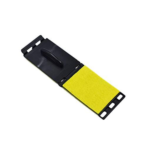 Fliyeong Instrumenten-Saitenreinigungswerkzeug Dual-Gitarren-Saiten- und Griffbrett-Reiniger Pflege für elektrische und akustische Gitarren Gelb