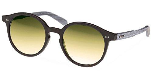 Wood Fellas Unisex Sonnenbrille Solln, Schwarz (Black/Green 5109), (Herstellergröße: one Size)